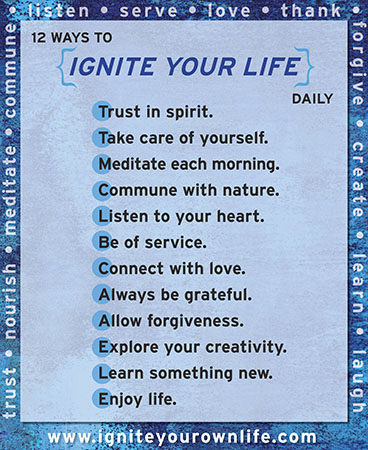 Daily Checklist for Igniting Your Life!